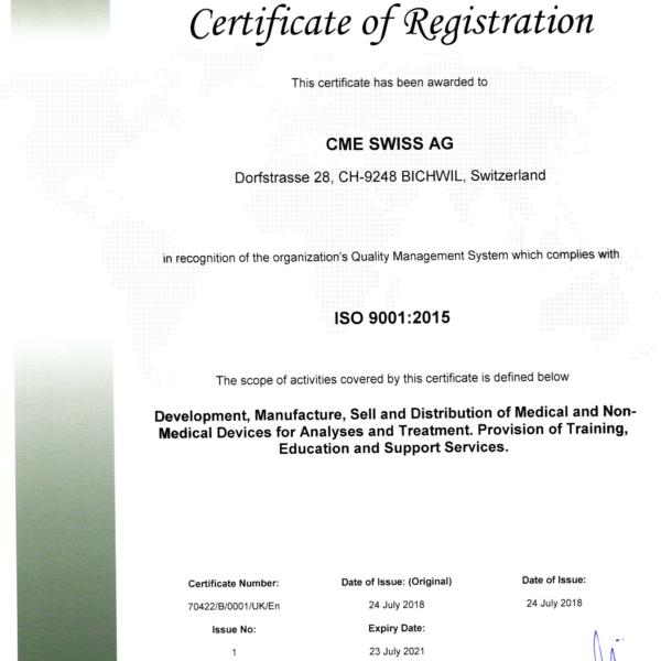 сертификат Швейцария